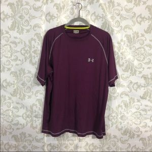 Under Armour Purple Heat Gear LOOSE Shirt XL